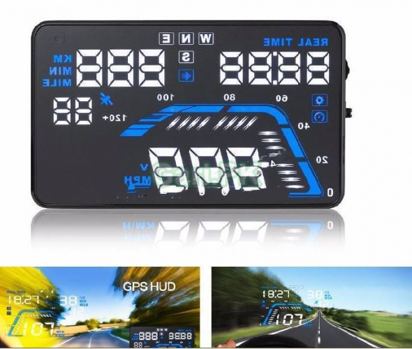Q7 5.5 CAR HUD GPS Head Up Display Speed Warning