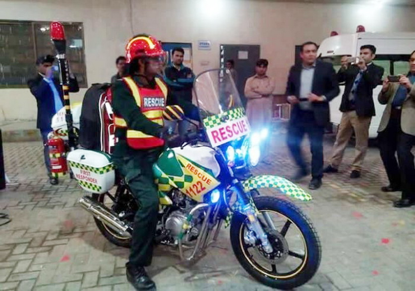 Motorbike Ambulance Service in Punjab Pakistan