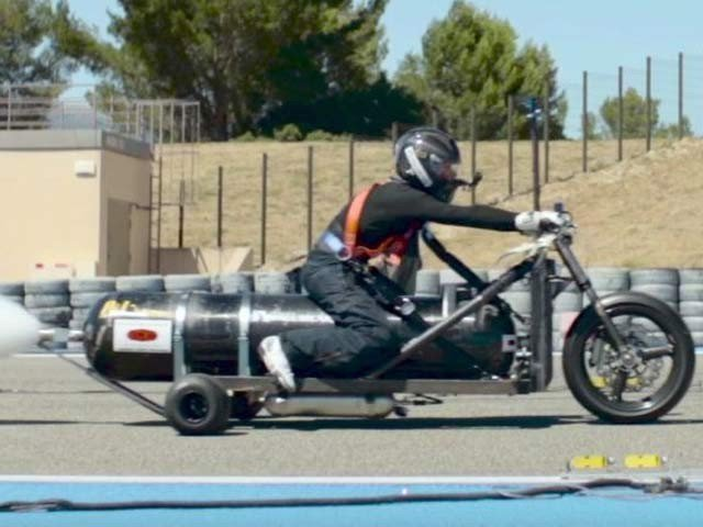 Motorcycle with Water Rocket