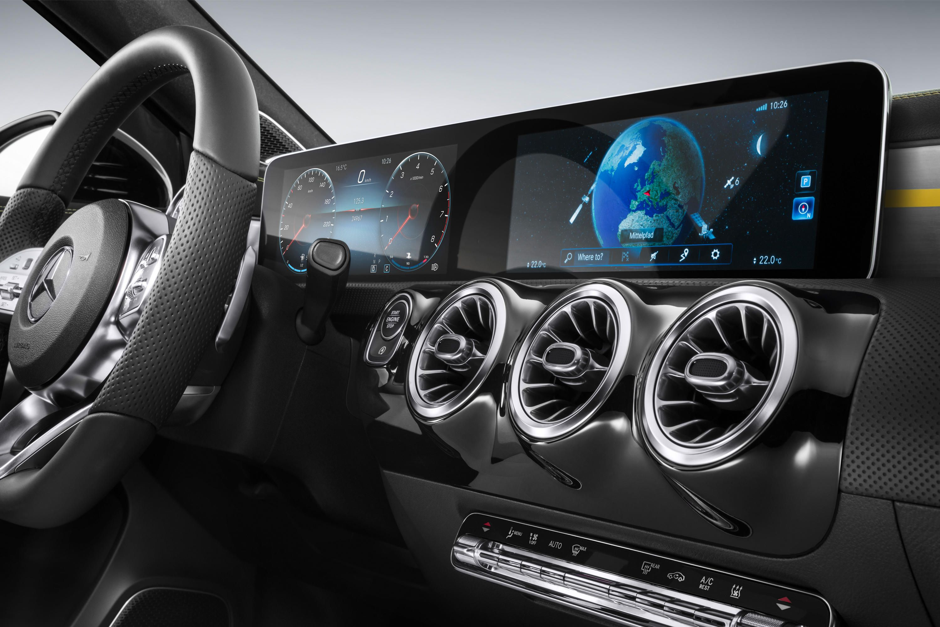 AI Infotainment System Mercedes with 3D Capabilities