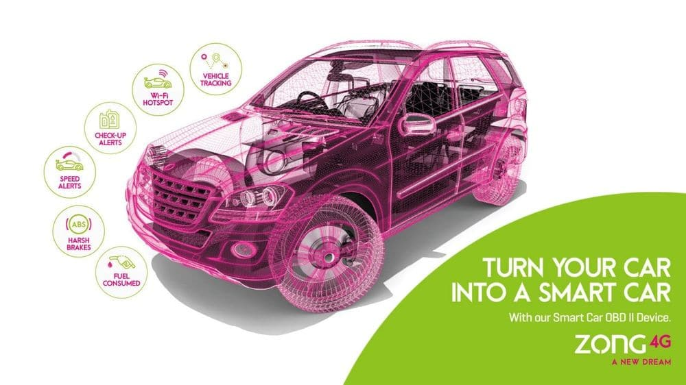4G Powered Smart Car Solution by Zong